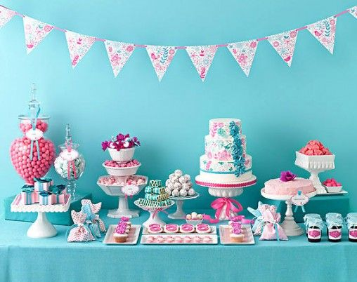 sweet table decor bunting via Amy Atlas
