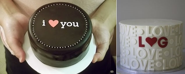 valentines cake I Heart You Cake from Eat Cake Be Merry left and via Pinterest right