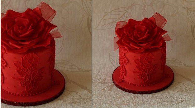 valentines cake by CakeCucina on CakesDecor