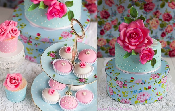 vintage cake tin as a cake stand from lulussweet secrets.blogspot.co.uk