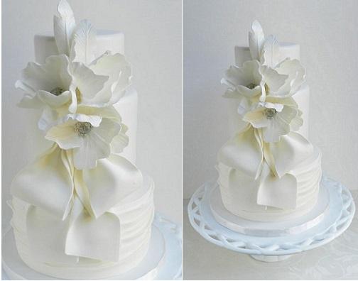 vintage feather wedding cake by The Cake Whisperer inspired by Lovin Sullivan