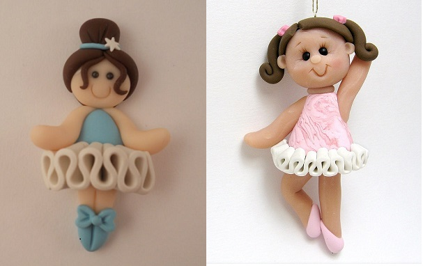 ballerina models  via Clayin Around on Flickr right and via Pinterest left
