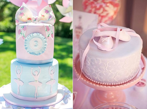 ballet cakes by Cake Von Dee, Silk Truffle Photography via Kara's Party Ideas left and via Tumblr right