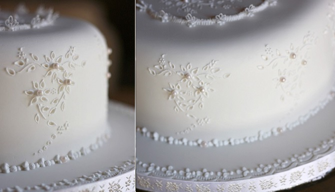 broderie anglaise cake piped royal icing by Donatella Semalo