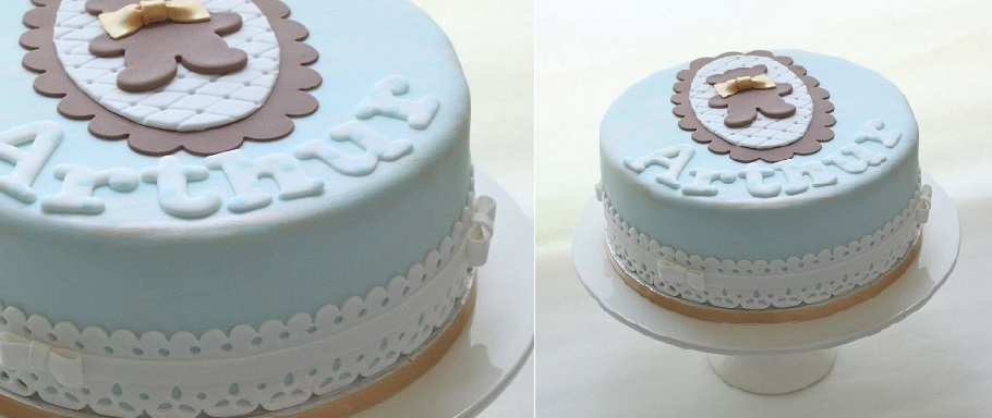 broderie anglaise christening cake by Layla Pegado