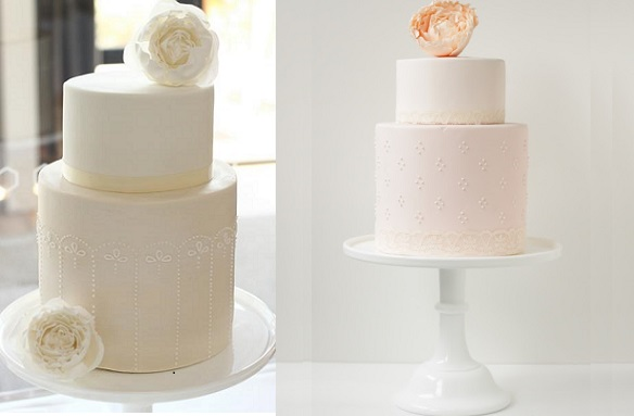 broderie anglaise eyelet lace cakes by Hello Naomi cake design