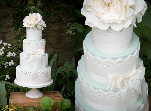 broderie anglaise wedding cake eyelet lace by Emily Harmston Cakes UK