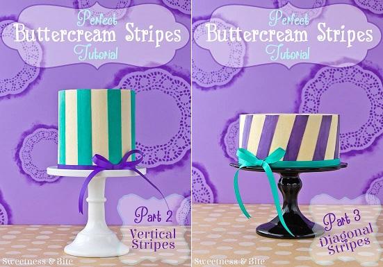 buttercream stripes cake tutorial buttercream transfer tutorial by Sweetness and Bite