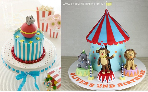 Circus Cakes By BakingArts On Flickr Left And Lorinda Right