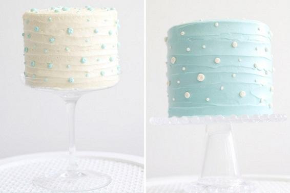 polka dot cakes in buttercream via Amy Atlas blog