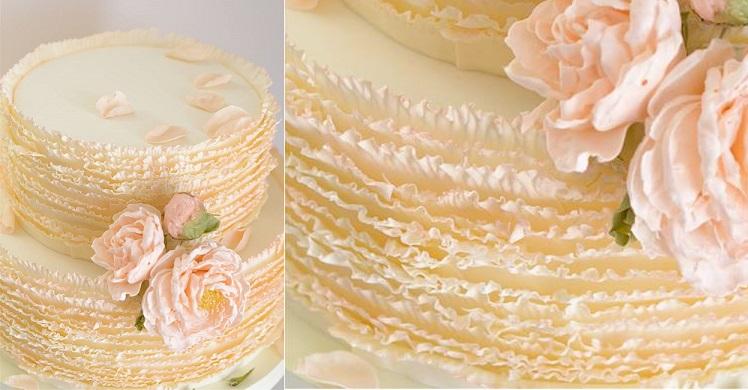 fondant frill wedding cake ruffles by Maggie Austin Cake 2