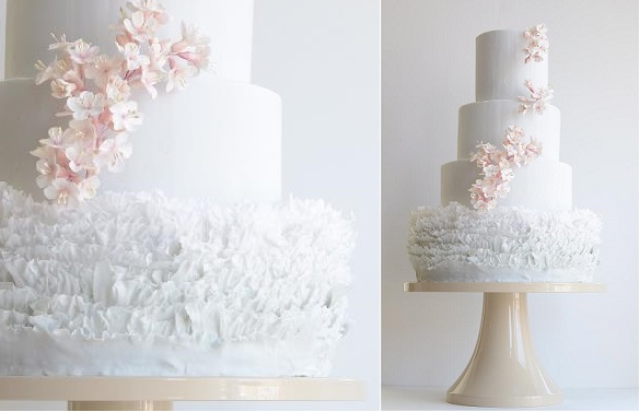fondant frill wedding cake ruffles by Maggie Austin Cake