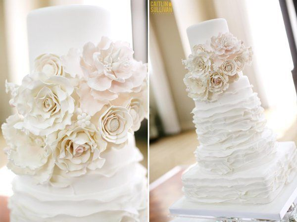 fondant frills wedding cake ruffles by Cake Zen