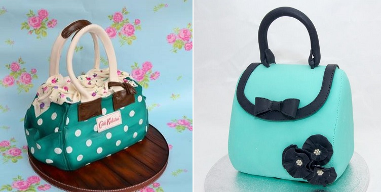 b0baa4c86f68 handbag cake tutorial right via Kakefesten.com and Cath Kidson bag left by  Roses