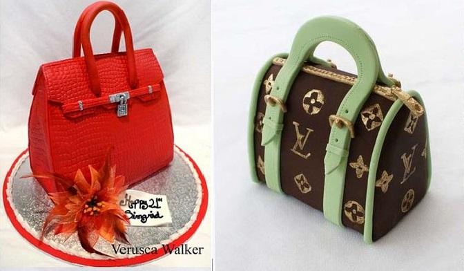 handbag cake tutorials Hermes handbag and Louis Vuitton handbags by Verusca Walker