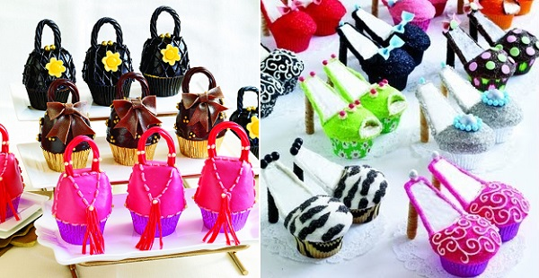 handbag cupcakes and stiletto cupcake tutorials from Cupcakes, Cookies & Pie, Oh My