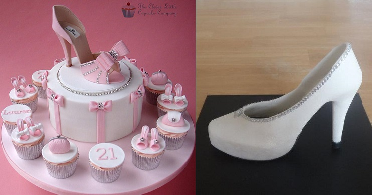 High Heel Shoe Cake 21st Birthday By The Clever Little Cupcake Co UK Left