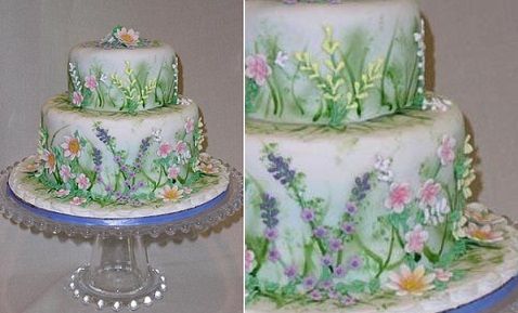 multi dimensional cake decorating spring garden by Cake Central contributor, Bobwonderbuns