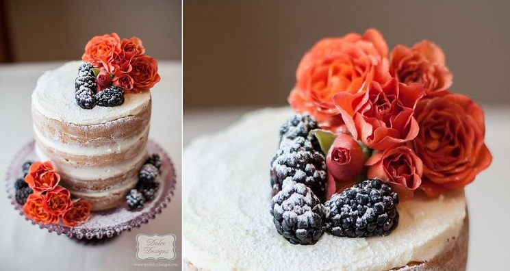 crumb-coated naked cake tutorial by Dolce Designs