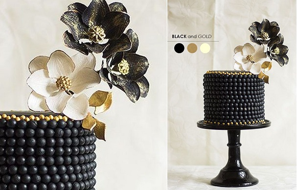 pearl beaded cake by Bakministeriet