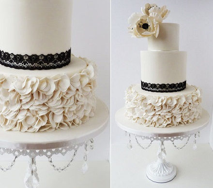 petal ruffle wedding cake by Little Miss Fairy Cake, Scotland