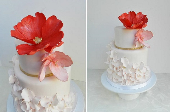 petal ruffles wedding cake by The Cake Whisperer, Canada