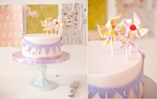 pin wheel cake and cake toppers by Cakes For Mom via Kara's Party Ideas, Hartley Jane Photography