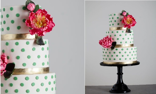 polka dot cake by The Wild Orchid Baking Company