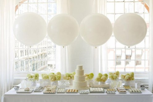 sweet table wedding dessert table in white by Amy Atlas