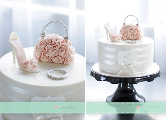 Handbag And Shoe Cake Designs