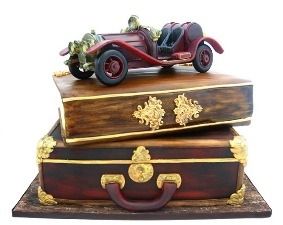 antique suitcase cakes by Cakes by Mina Bakalova, Bulgaria