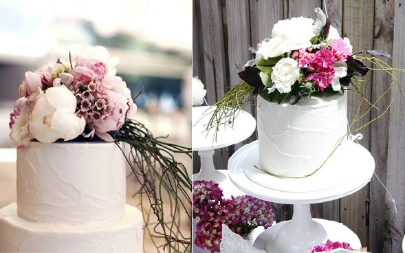 botanical style cakes by Miss Shell's Cakes, Sheridan Nielson Photography (left)