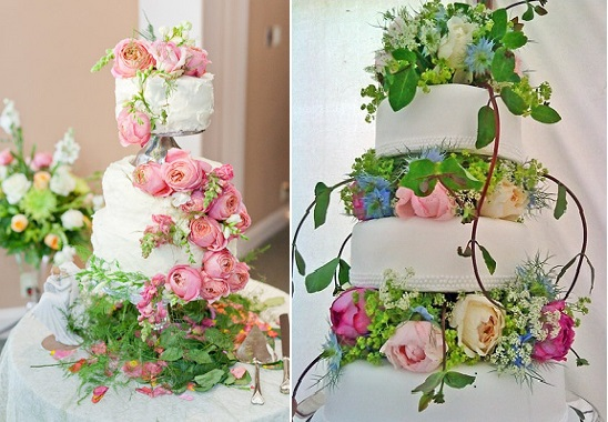 botanical wedding cakes via The Natural Wedding Co