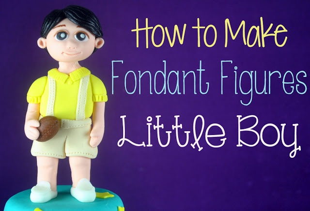 boy cake topper tutorial from Bake Happy