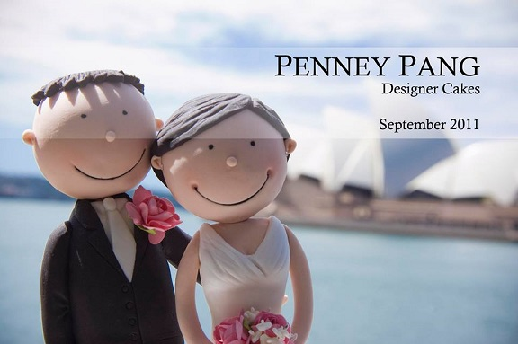 bride and groom cake topper wedding cake topper by Penney Pang Designer Cakes