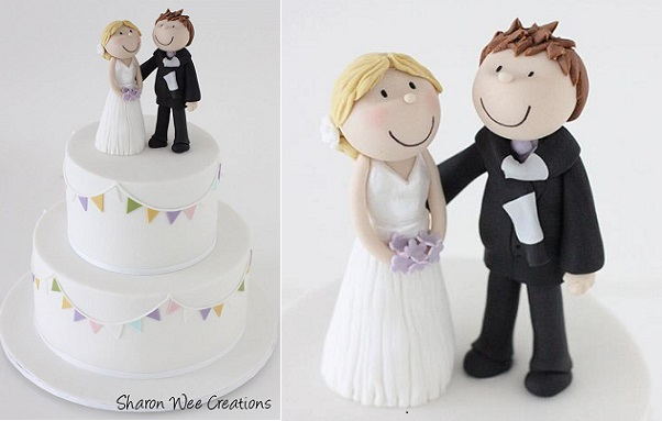 Bride And Groom Cake Topper Wedding By Sharon Wee Creations