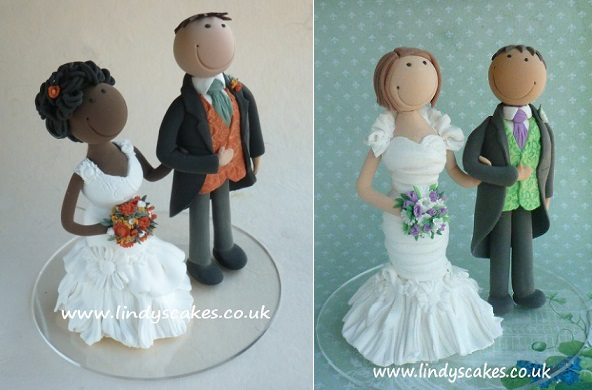 bride and groom cake toppers wedding cake toppers by Lindy Smith