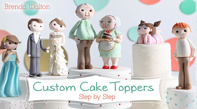 Playful Wedding Cake Toppers Tutorial