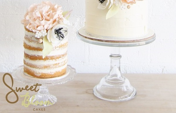 crumb coated naked cake by Sweet Bloom Cakes AU