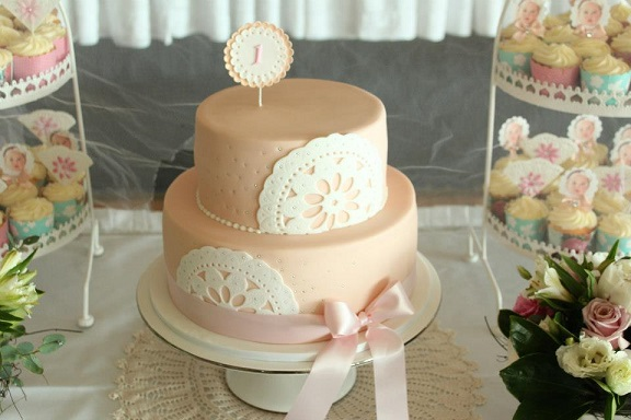 doile cake broderie anglaise eyelet lace cake by Chloe Kerr Cakes