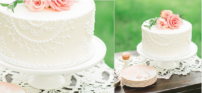 doile lace cake by Sugar Bee Sweets, Alan Tsai Photography via Wedding Chicks