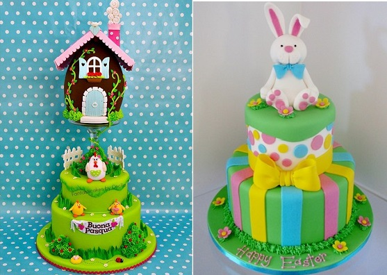 easter cakes by Fantastic Cakes by Cecile left and by Takes The Cake. net.au right