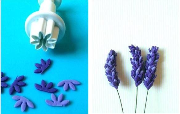 gumpaste lavender image via Pinterest