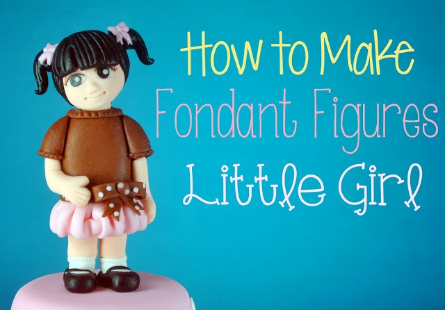 little girl cake topper tutorial by Bake Happy