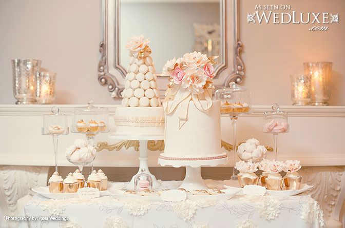 Peach And Blush Pink Wedding Cake Dessert Table By Anna Elizabeth Cakes Via Wedluxe