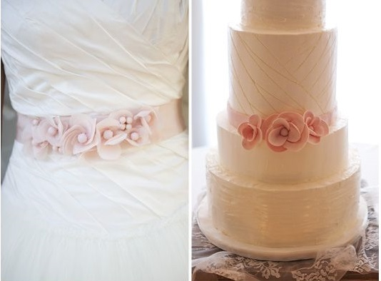 wedding dress inspired cake by The Layered Bakeshop via The Cake Blog
