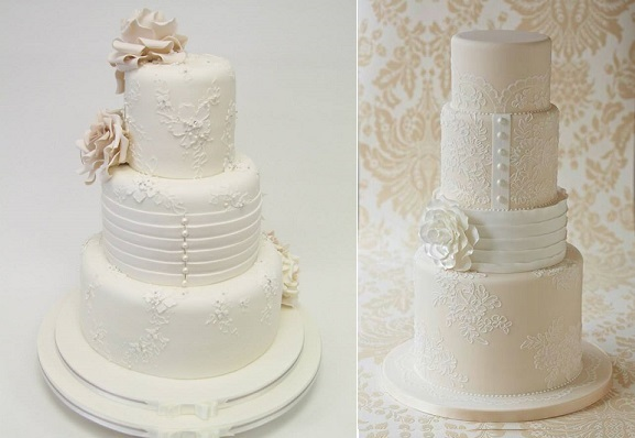 Wedding Dress Inspired Cakes By Emma Jayne Cake Design Left And Zoe Clark The