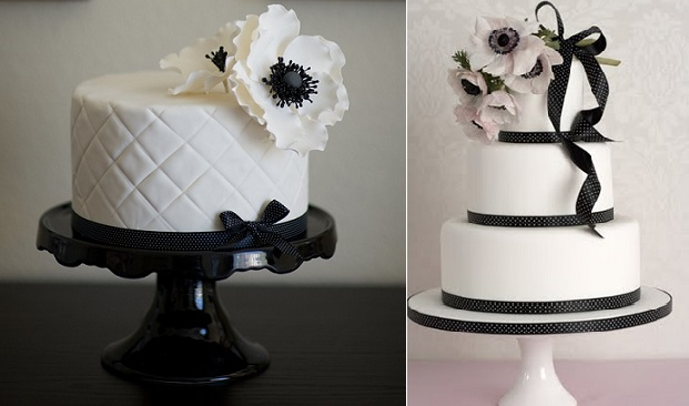 anemone wedding cakes, image left by Michael Muramoto