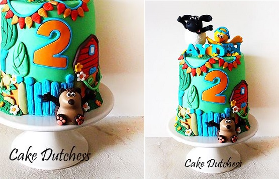 baby animals cake by The Cake Dutchess