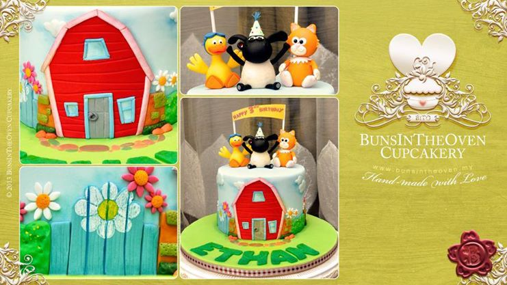 baby animals cake farm cake by Sheryl Bito Buns In The Oven Cupcakery
